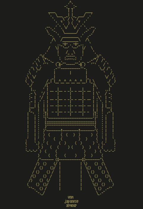 Japanese Warrior ASCII