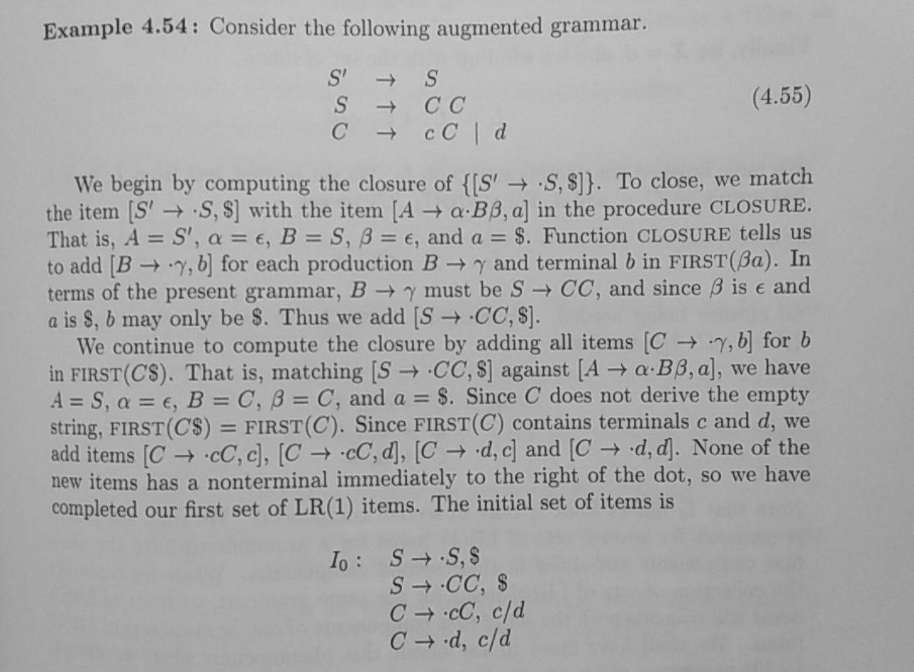 LR(1) example 2
