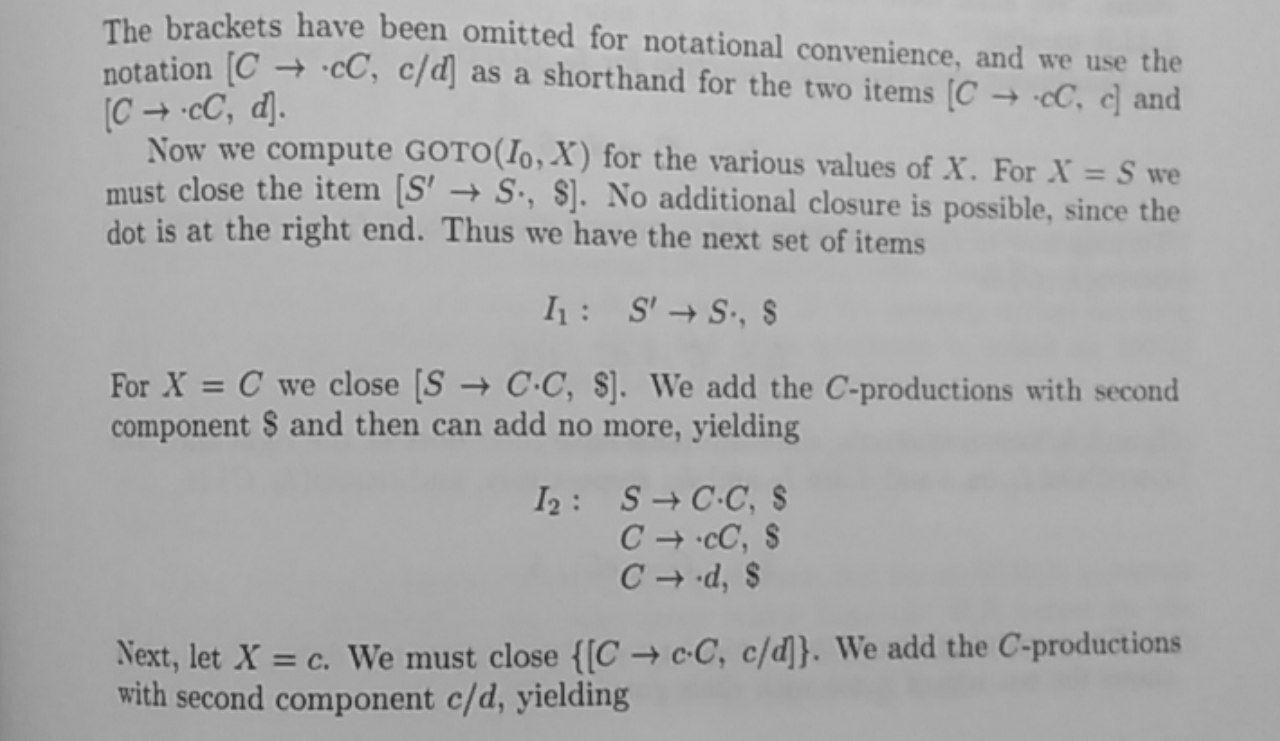 LR(1) example 3