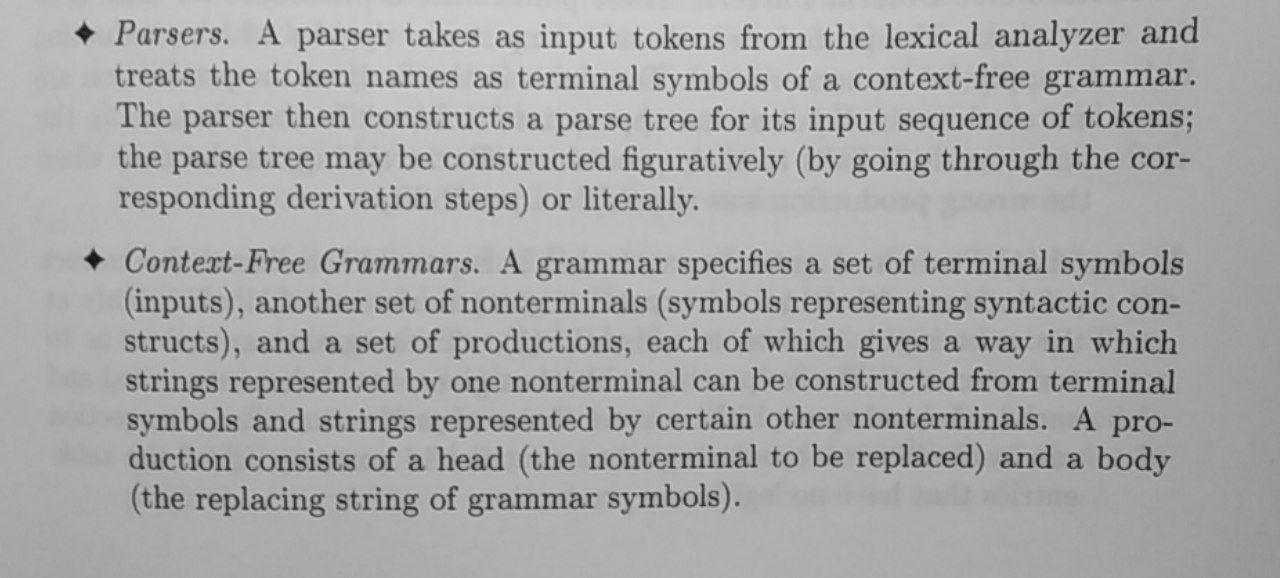Parser Summary 1