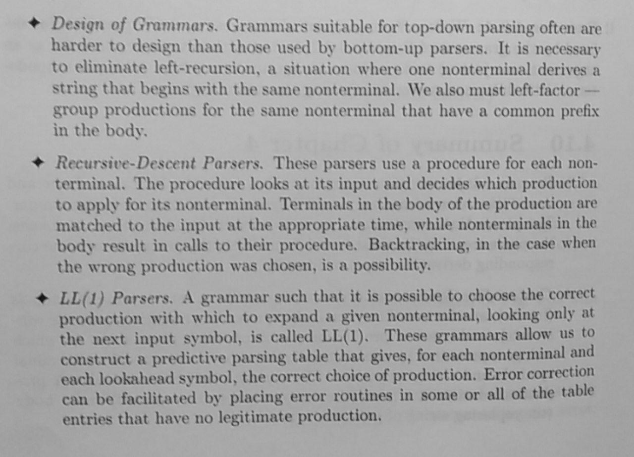 Parser Summary 3