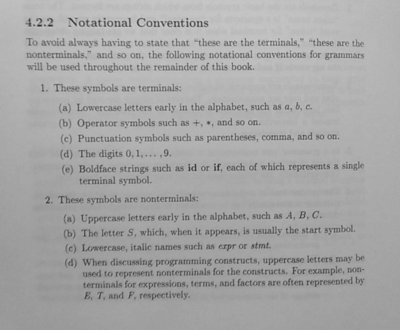 Notational convention 1