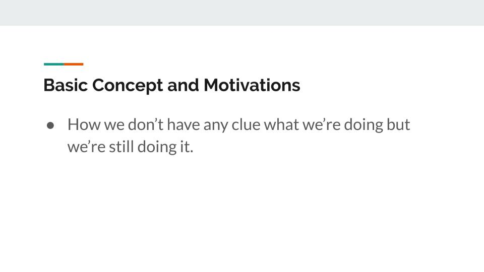 Concept and motivations