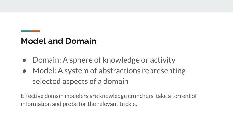 Domain and models