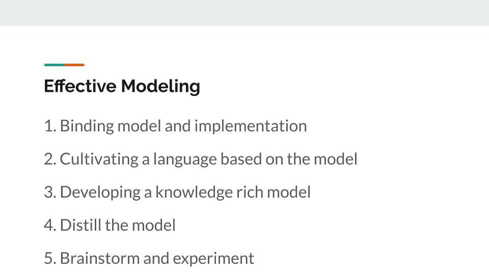 Effective modeling