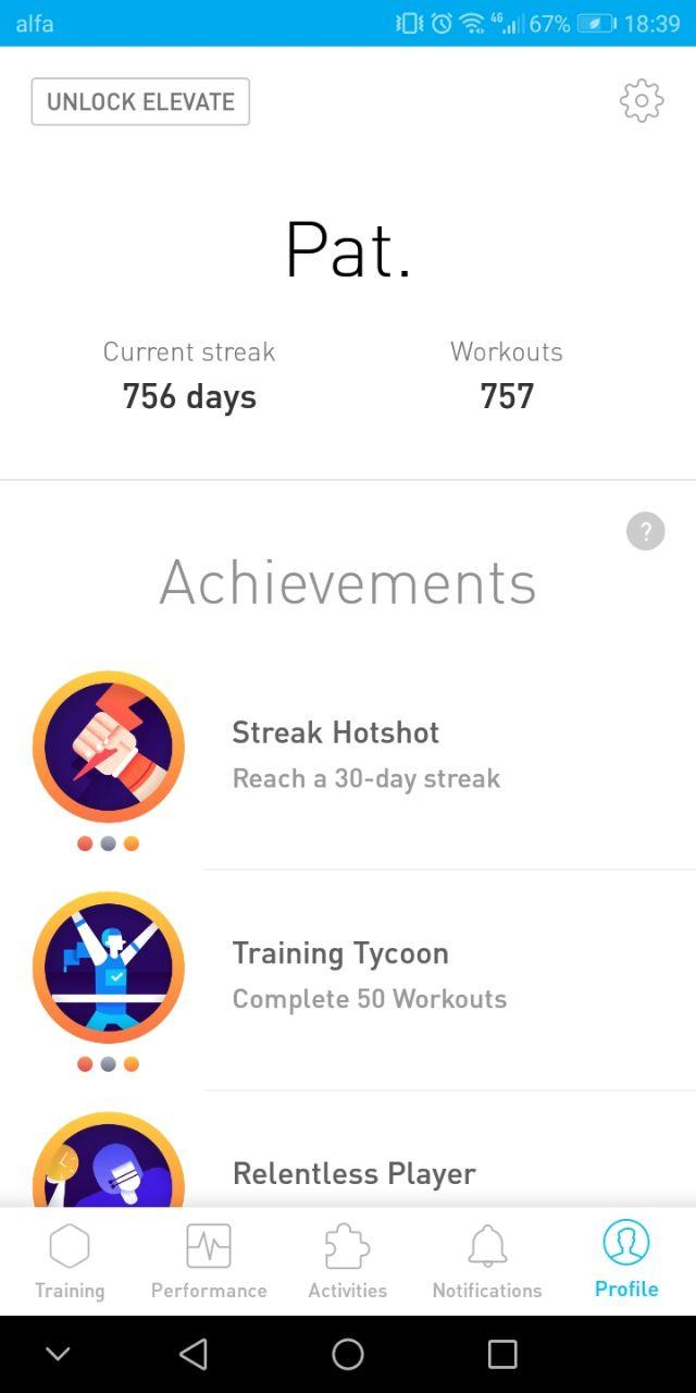 elevate streak