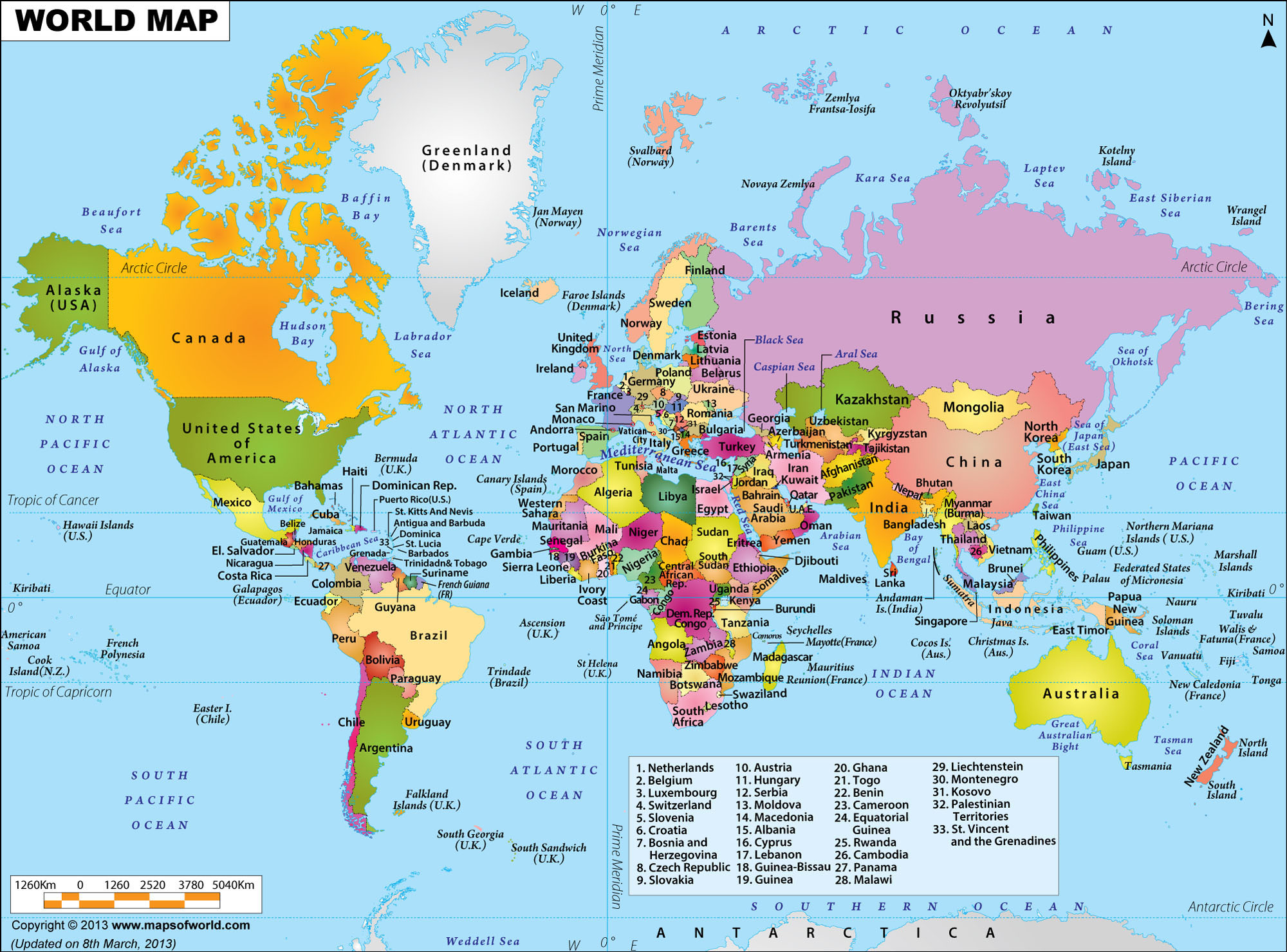 World Map, nominal case