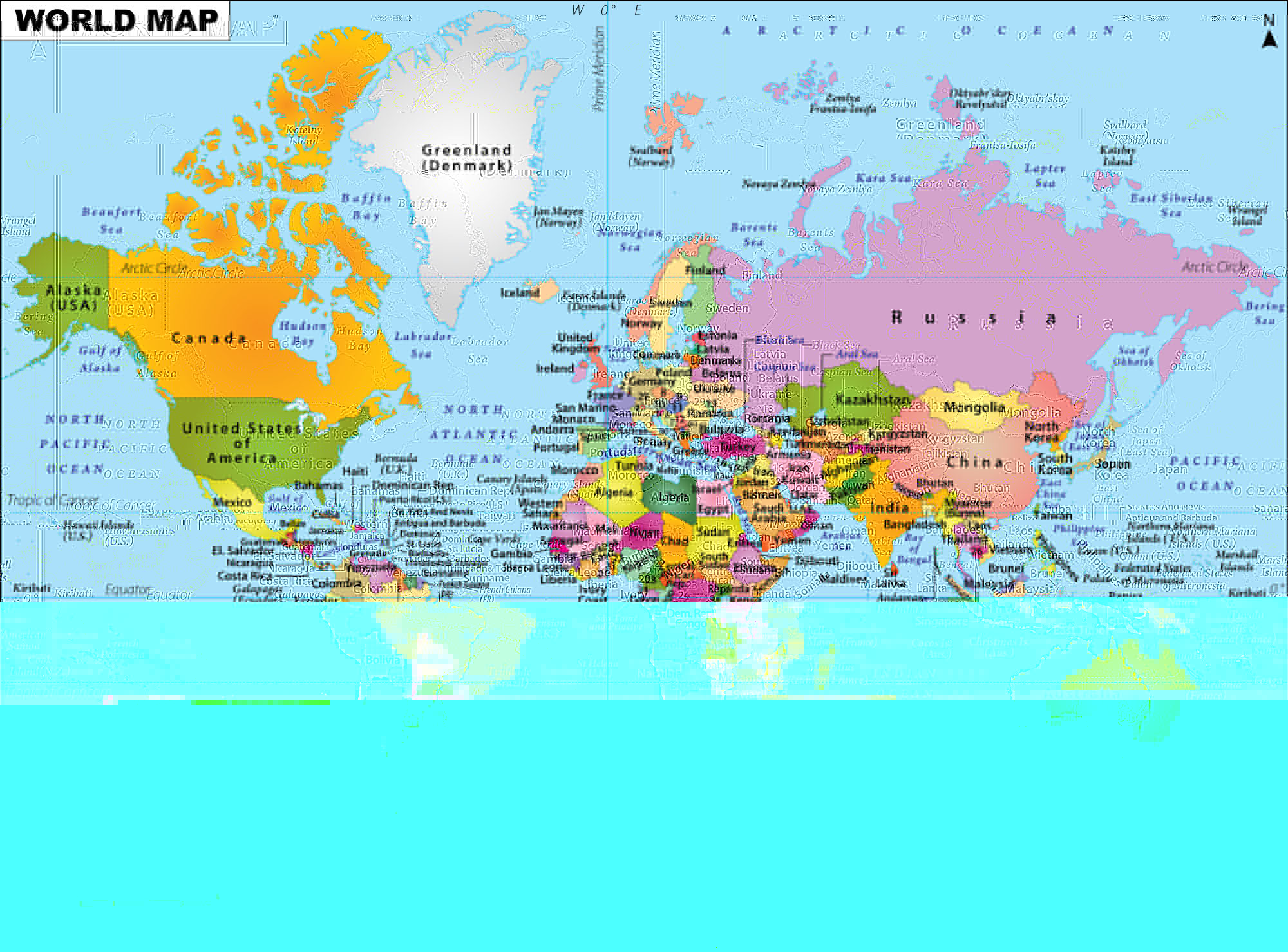 World Map, cut-paste-reverse jpeg