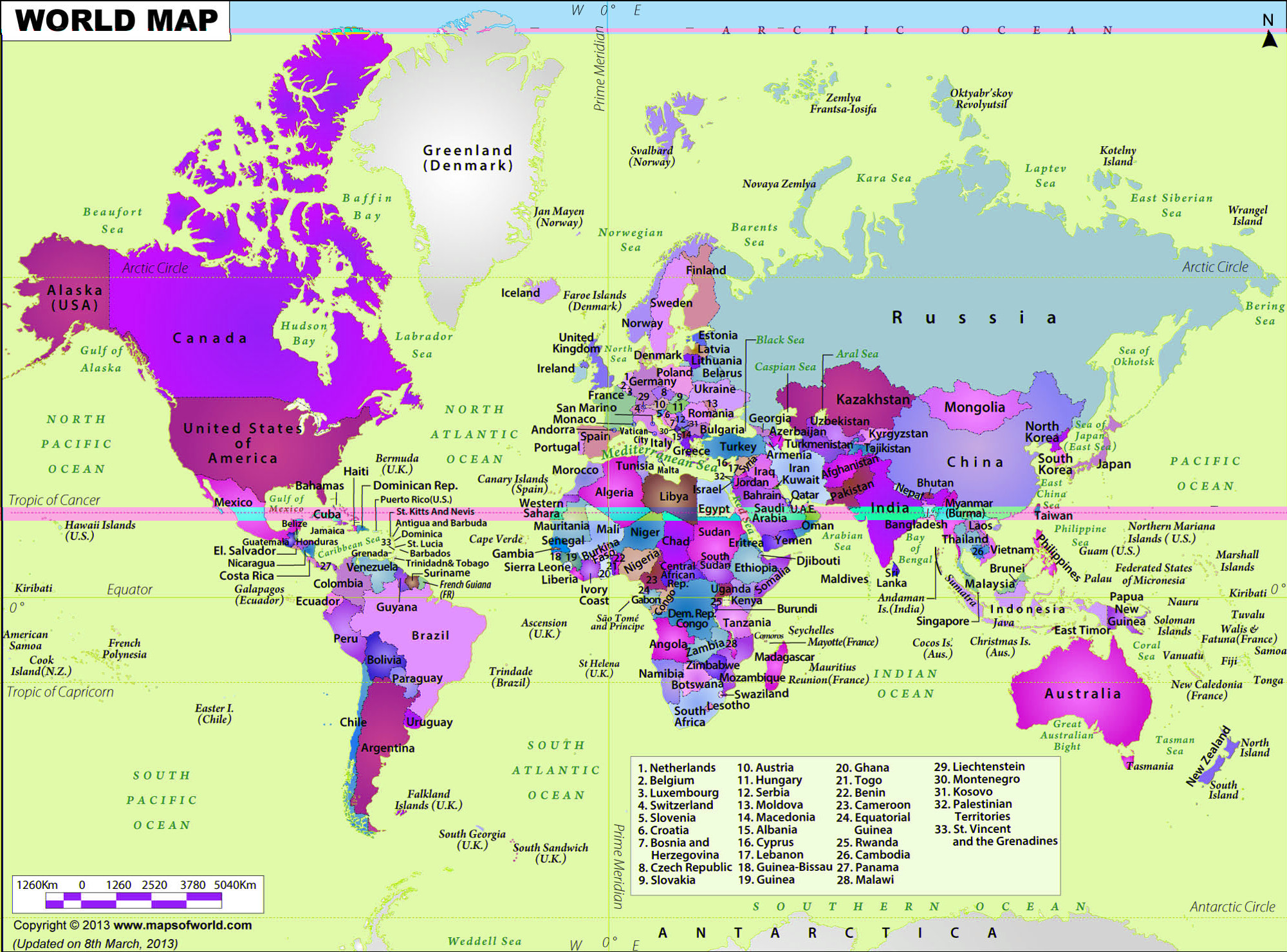 World Map, monkey have been randomly mashing the world