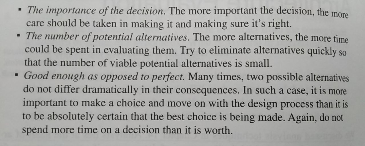 What to remember when taking decisions