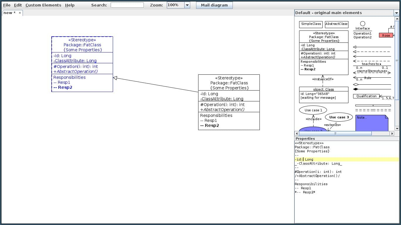 Uml editordesigner on unix bouml a free uml 2 modeler with c idl java php and python code generation ccuart Images